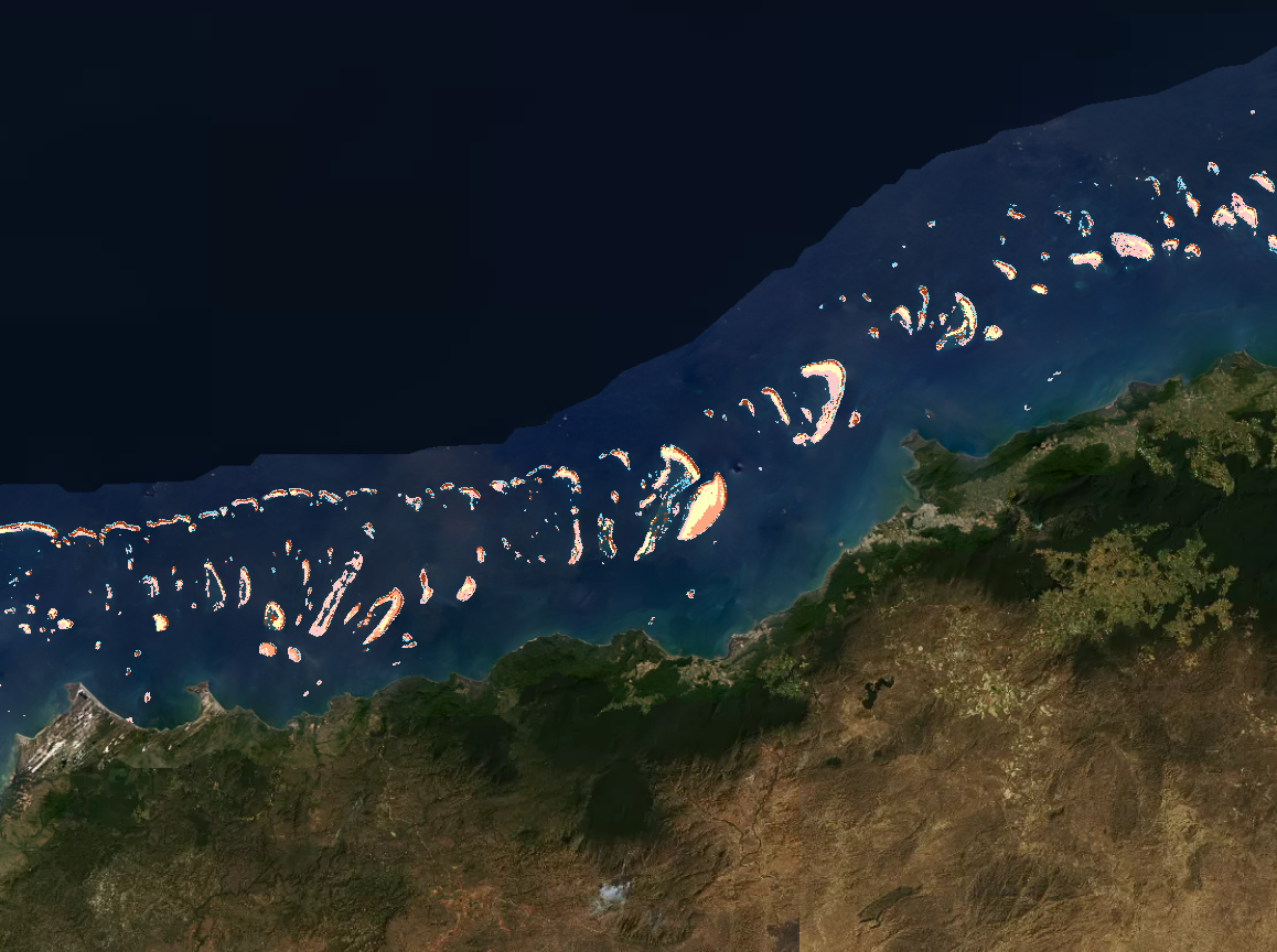 Allen Coral Atlas adds spectacular satellite views of Australia's Great Barrier Reef