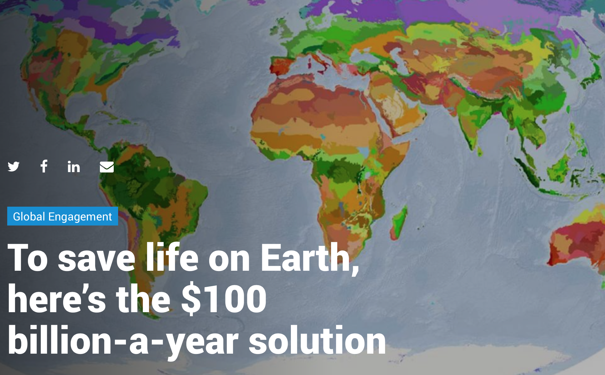 To save life on Earth, here's the $100 billion-a-year solution