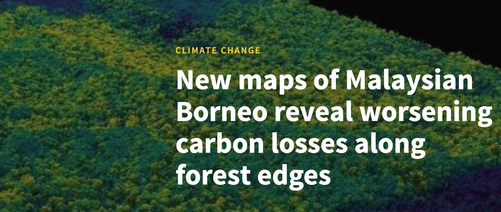 New maps of Malaysian Borneo reveal worsening carbon losses along forest edges