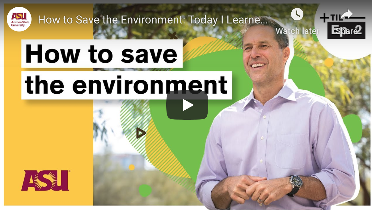 Today I learned: How to save the environment